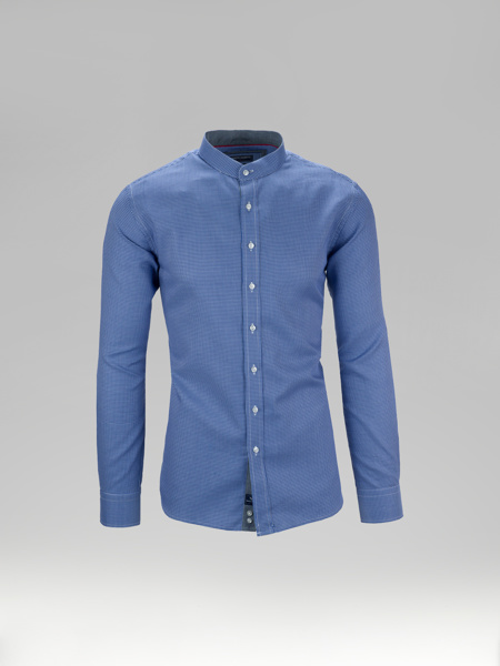 Picture of Cotton jacquard shirt mandarin collar