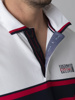 Picture of Men's polo pique shirt with striped ribs