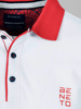 Picture of Men's polo pique shirt contrast placket piping