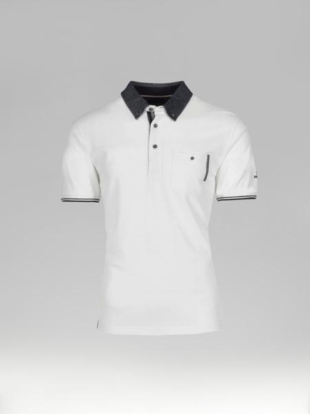Picture of Men's polo pique shirt jeans button down collar