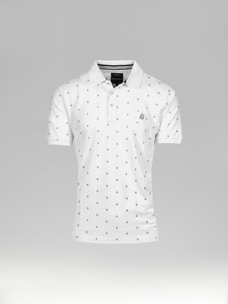 Picture of Men's polo pique shirt micro jacquard