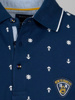 Picture of Cotton polo t-shirt with all over maritime print