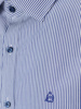 Picture of Stripped cotton shirt semi cutaway collar