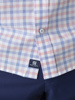 Picture of Μen's cotton plaid shirt with button down collar SMART EASY CARE