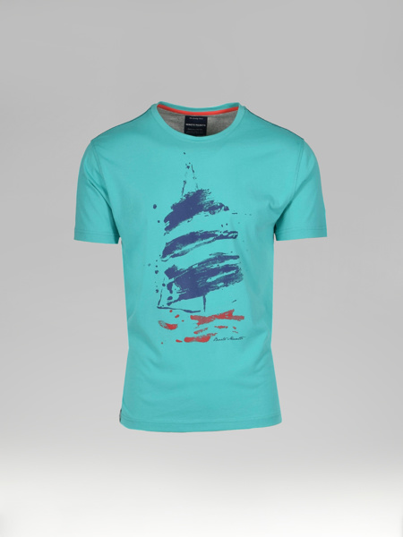 Picture of Men's T-shirt Round Neck Front Maritime Print