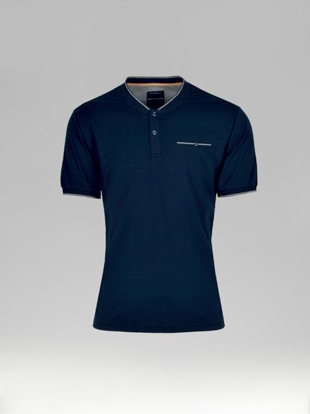 Picture of Men's T-shirt V Neck Placket Fillet Pocket