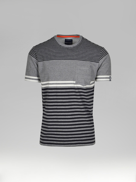 Picture of Men's Striped T-shirt Chest Pocket