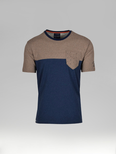 Picture of Two Colour Panel Men's T-shirt Pocket