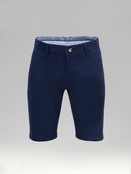 Picture of Cotton chinos shorts piping fillet pockets