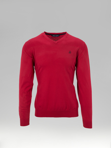 Picture of 'V' neck knitted long sleeve sweater