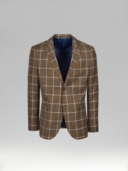 Picture of Blazer jacket check plaid jacquard
