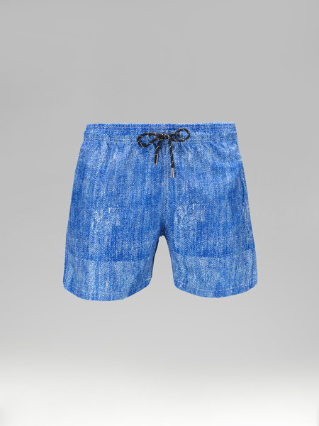 Picture of Blue Swim shorts jeans print