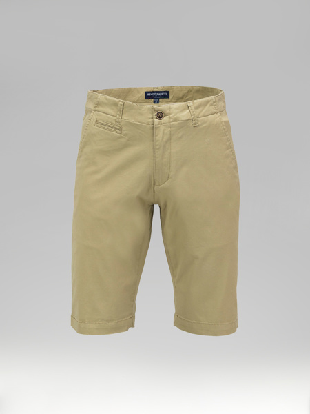 Picture of Cotton chinos shorts with inner details