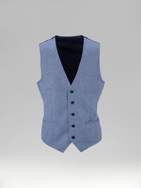 Picture of Single breasted cotton linen vest
