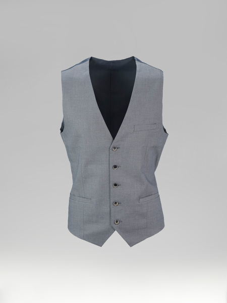 Picture of Single breasted cotton vest small jacquard