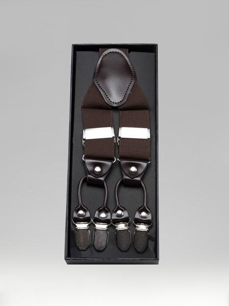 Picture of Brown Pants elastic suspenders