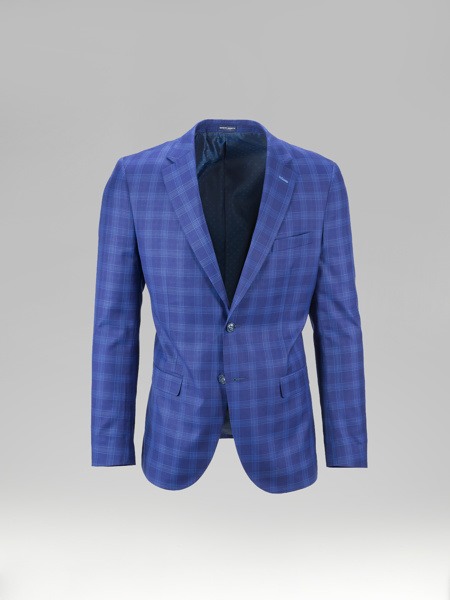 Picture of Check (plaid) single breast blazer jacket