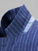 Picture of Linen stripped single breast blazer jacket