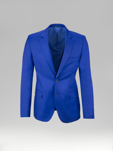 Picture of Wool blend single breasted blazer jacket of suit