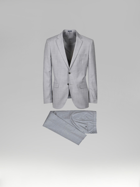 Picture of Wool blend suit with single breasted blazer jacket