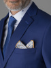 Picture of Men's wool mix electric blue suit