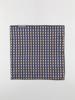 Picture of Men's blue jacquard pocket square hanky