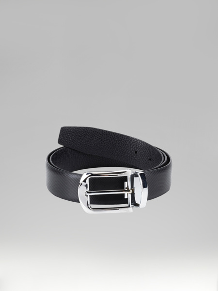 Picture of Leather knitted belt with metal buckle