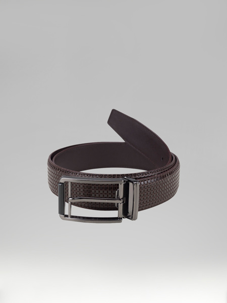Picture of BROWN LEATHER BELT WITH DESIGN