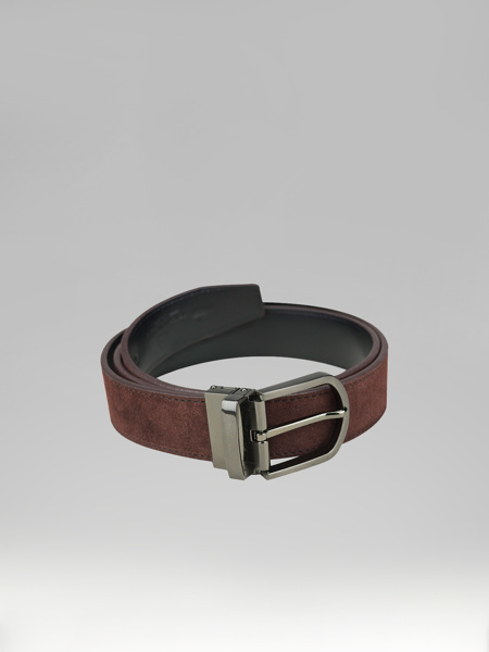 Picture of COFFEE SUEDE BELT