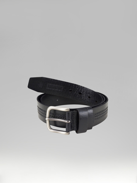Picture of BLACK LEATHER BELT WITH DESIGN