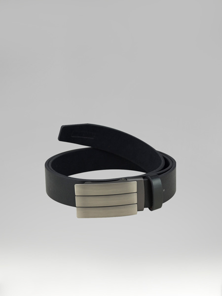 Picture of LEATHER BELT STRIPED PLATE BUCKLES