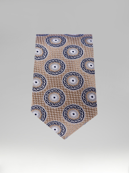 Picture of BROWN TIE WITH DESIGNS