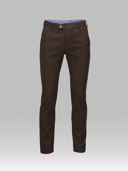 Picture of Chinos cotton pants brown