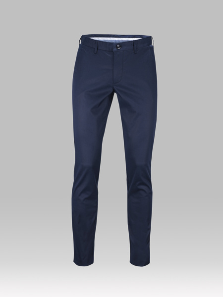 Picture of Chinos cotton pants navy blue