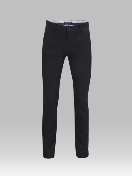 Picture of Chinos cotton pants with contrast back pipings