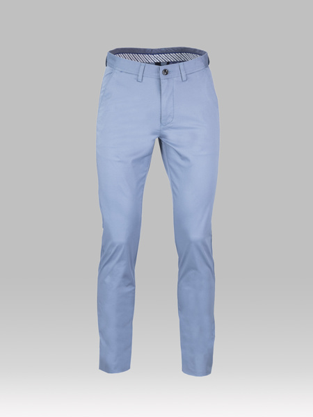 Picture of Chinos cotton pants back flap pockets