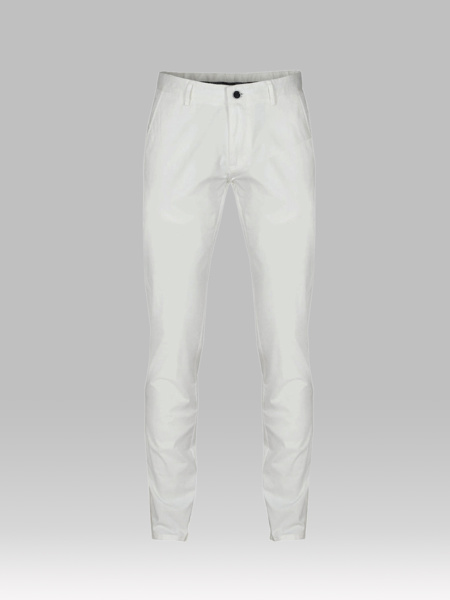 Picture of Chinos cotton pants with contrast back piping