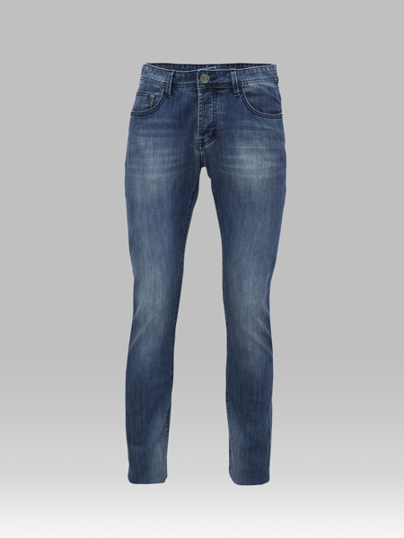 Picture of Regula-fit five-pocket stretch blue jeans
