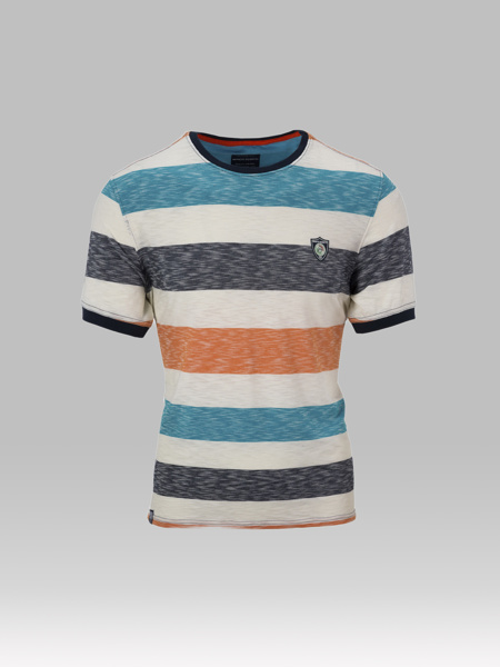 Picture of Slubby stripped cotton crew neck T-shirt