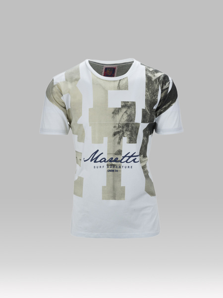 Picture of Cotton combed T-shirt tropical print