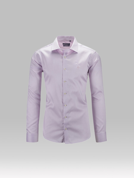 Picture of Men's cotton oxford shirt semi cutaway collar, slim, french placket