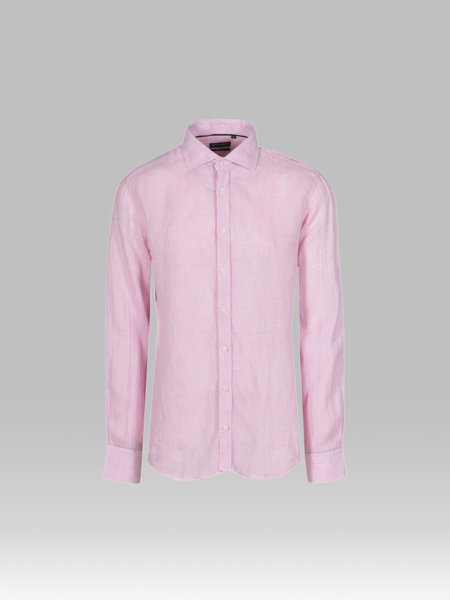 Picture of Men's Pink Check Linen Shirt