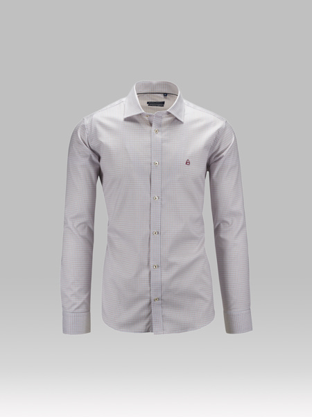Picture of Bamboo check shirt semi cutaway