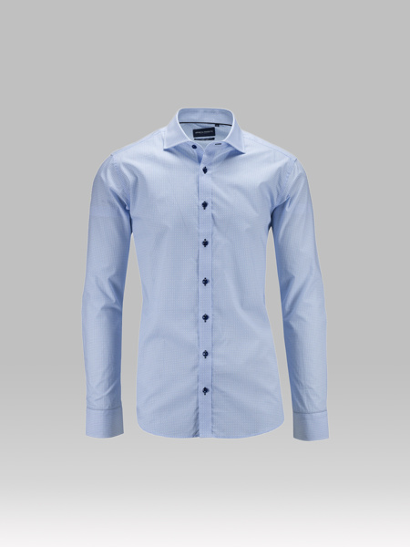Picture of Cotton shirt cutaway  with jacquard print