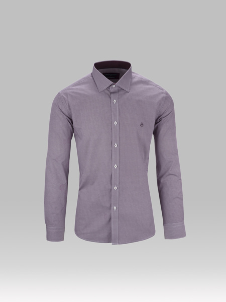 Picture of Cotton shirt small jacquard
