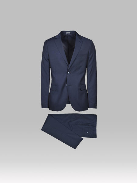 Picture of Wool Blend Suit Dark Blue