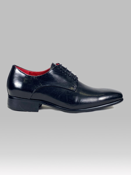 Picture of Mens leather patent tuxedo shoes