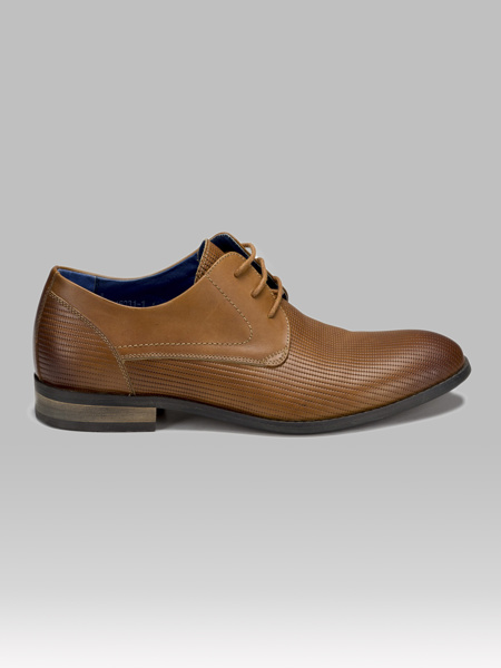 Picture of Men's leather oxford perforated shoes