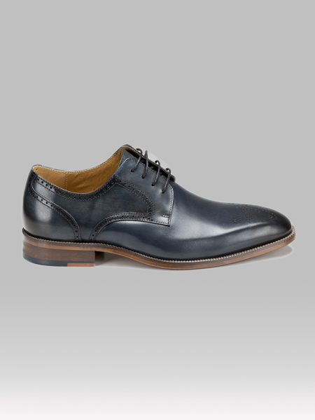 Picture of Men's leather derby brogue shoes
