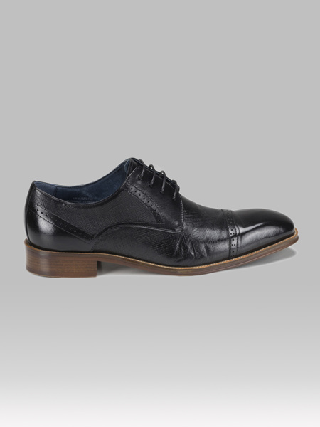 Picture of Leather mens derby brogue shoes